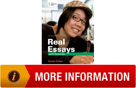 real essays with readings 2009 Buy real writing with readings 5th edition (9780312539047) by susan anker for up to 90% off at textbookscom.